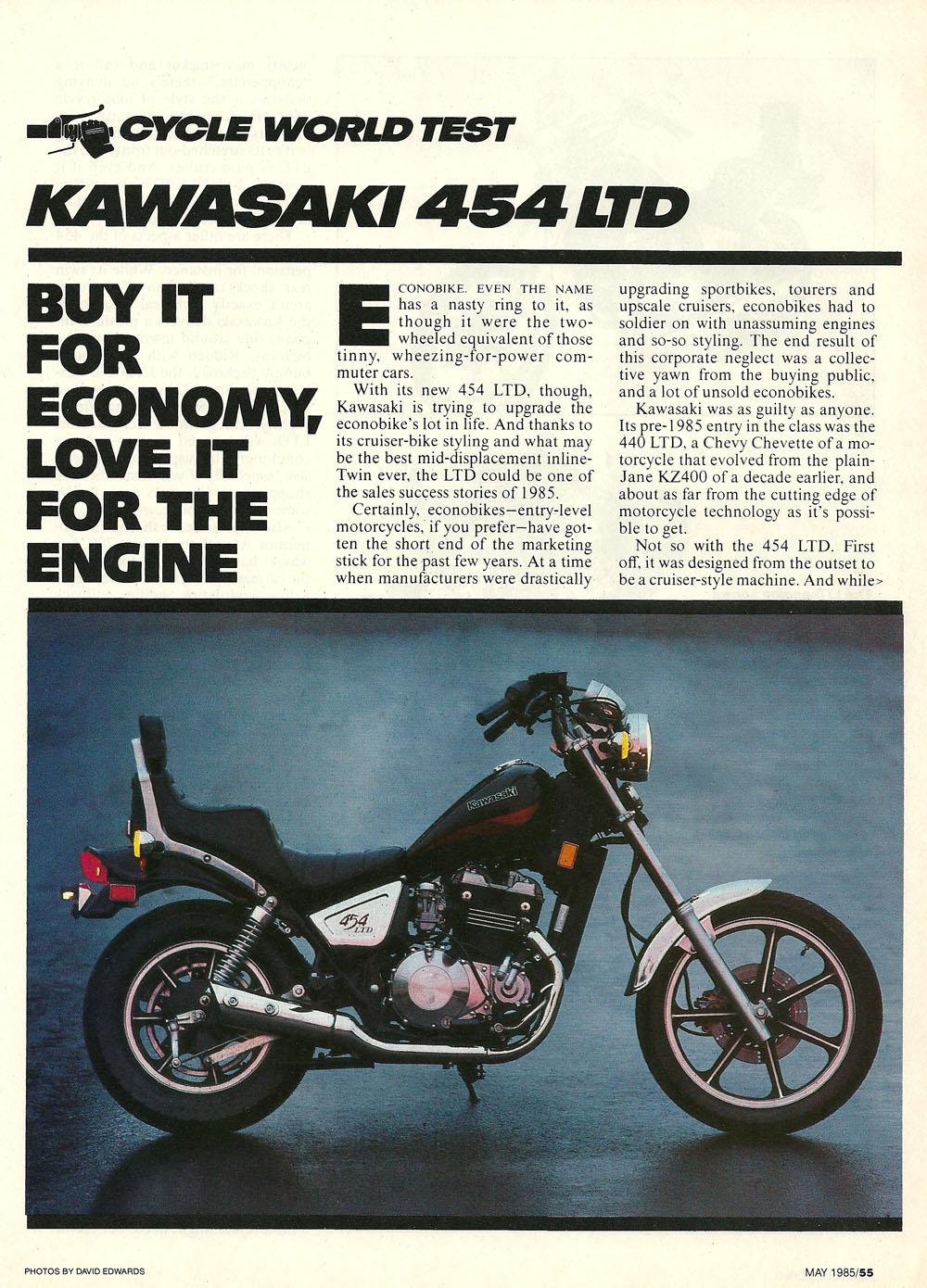 1985 Kawasaki 454 LTD road test — Ye Olde Cycle Shoppe