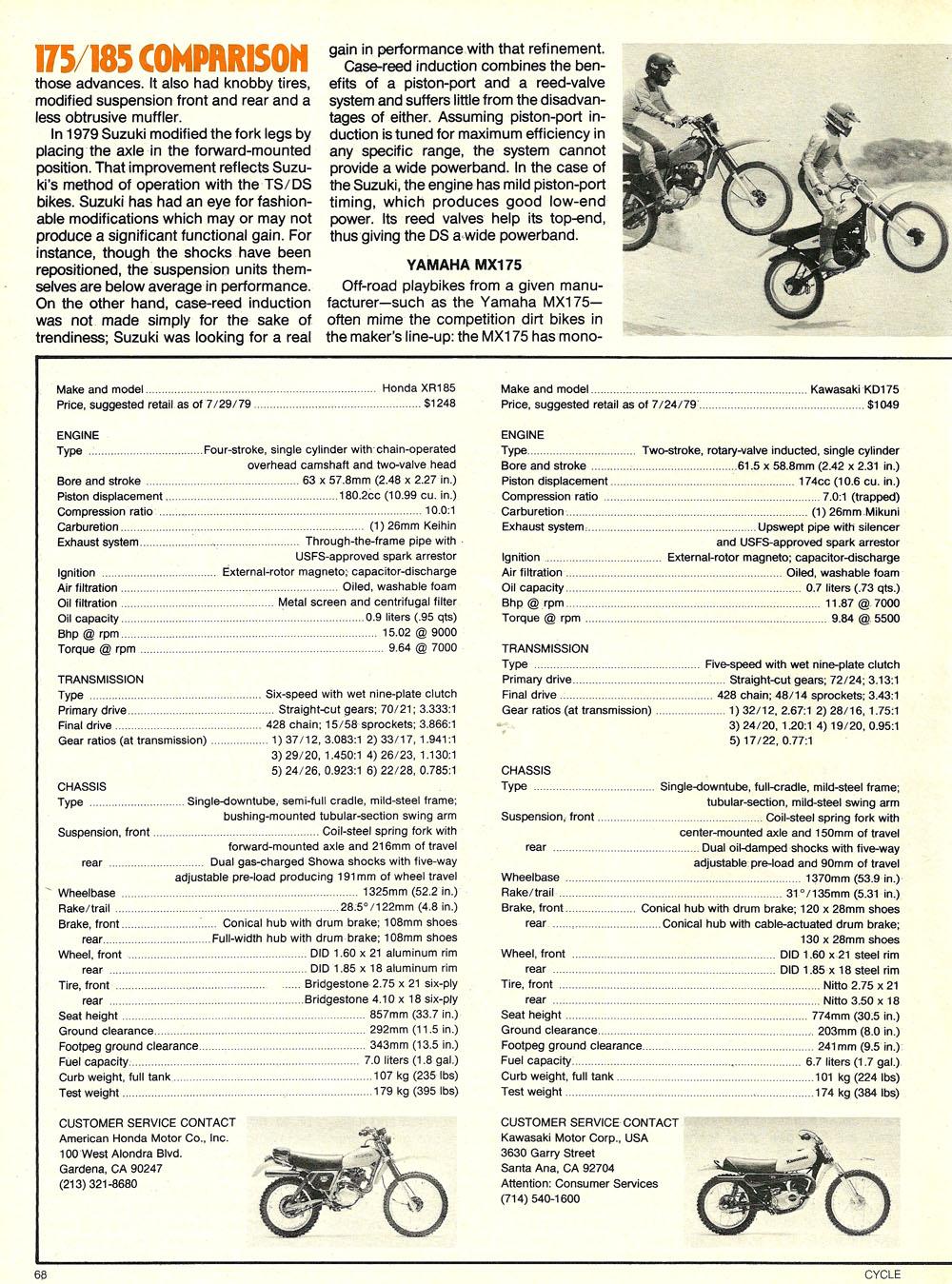 1979 Comparison XR185 KD175 DS185 MX175 test 05.jpg