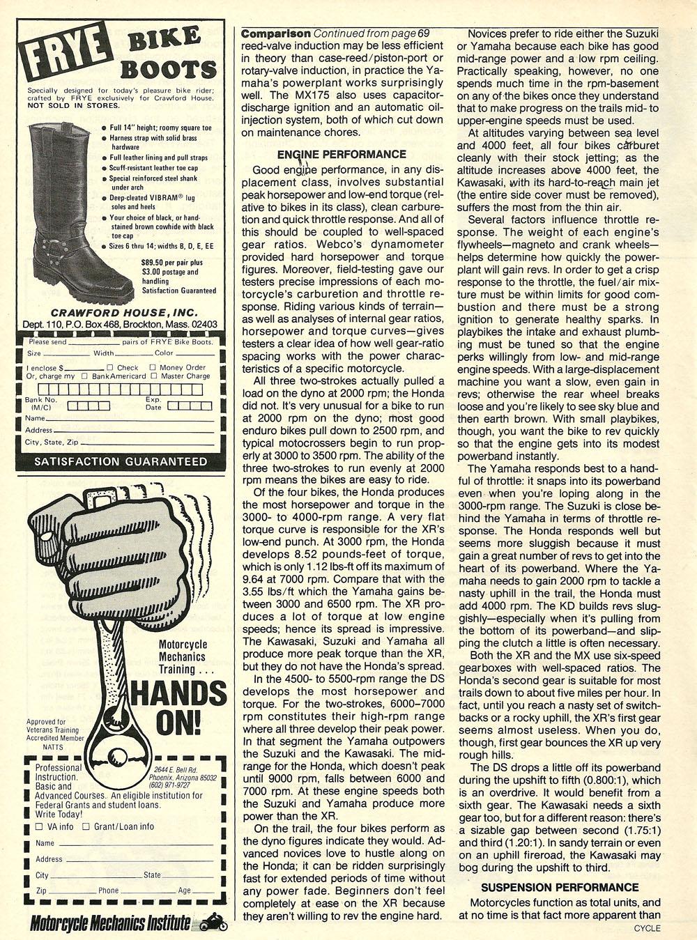 1979 Comparison XR185 KD175 DS185 MX175 test 07.jpg
