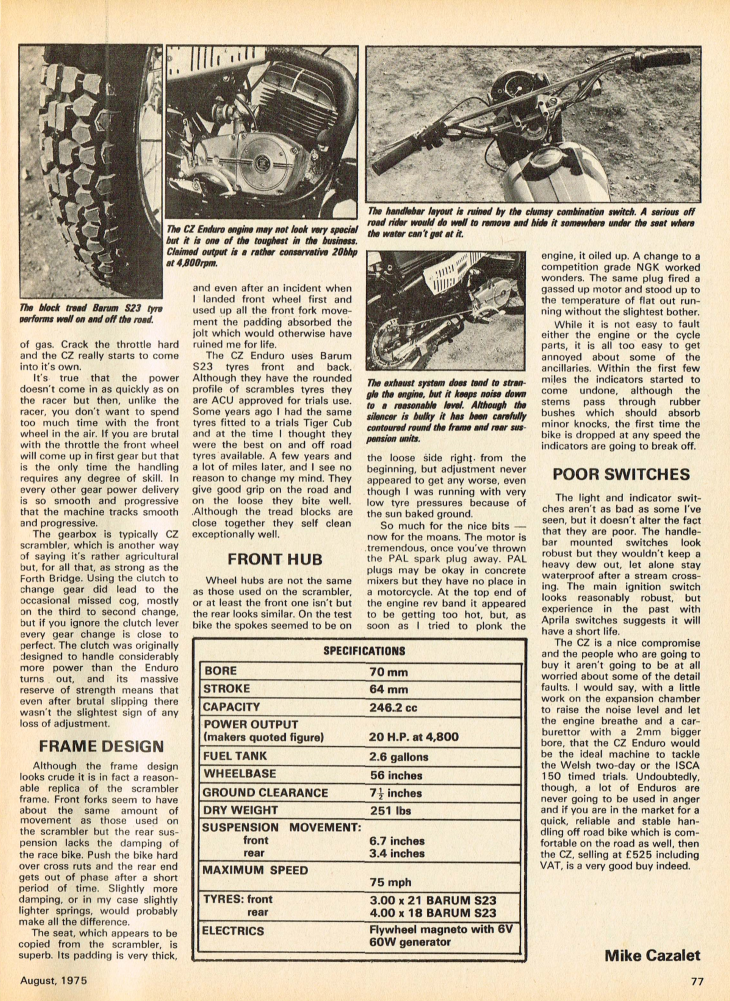 1975 CZ 250 Enduro road test.2.jpg