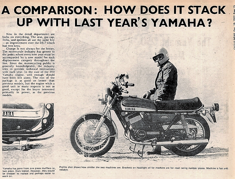 1973 Yamaha RD 250 & 1972 DS7 250 road  test.2.jpg