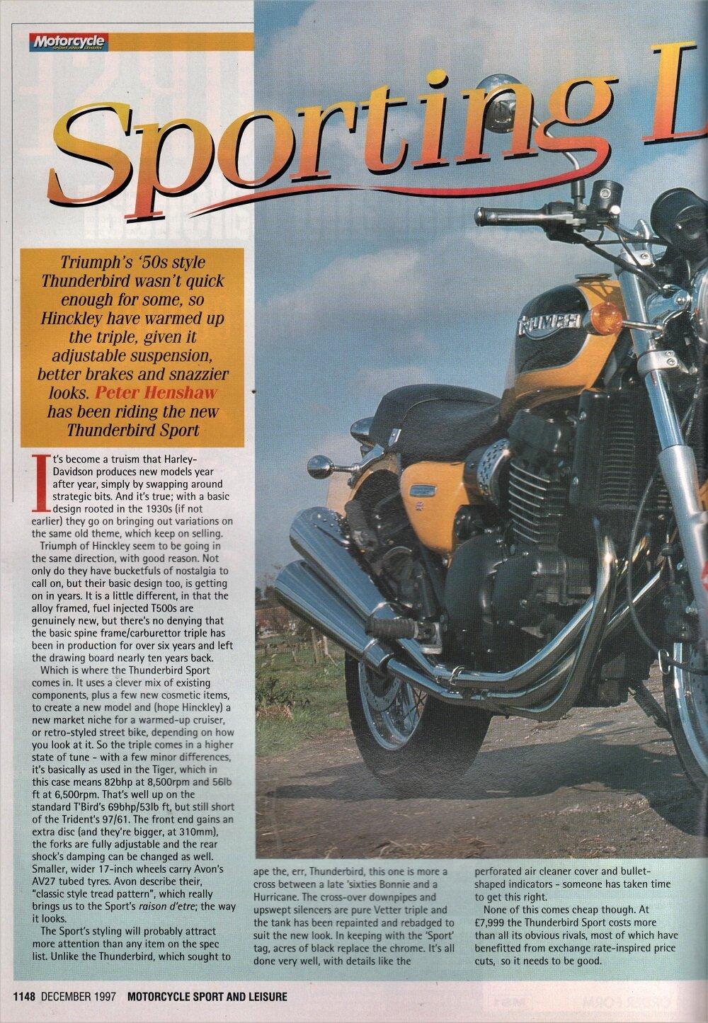 1998 Triumph Thunderbird Sport road test.2.jpg
