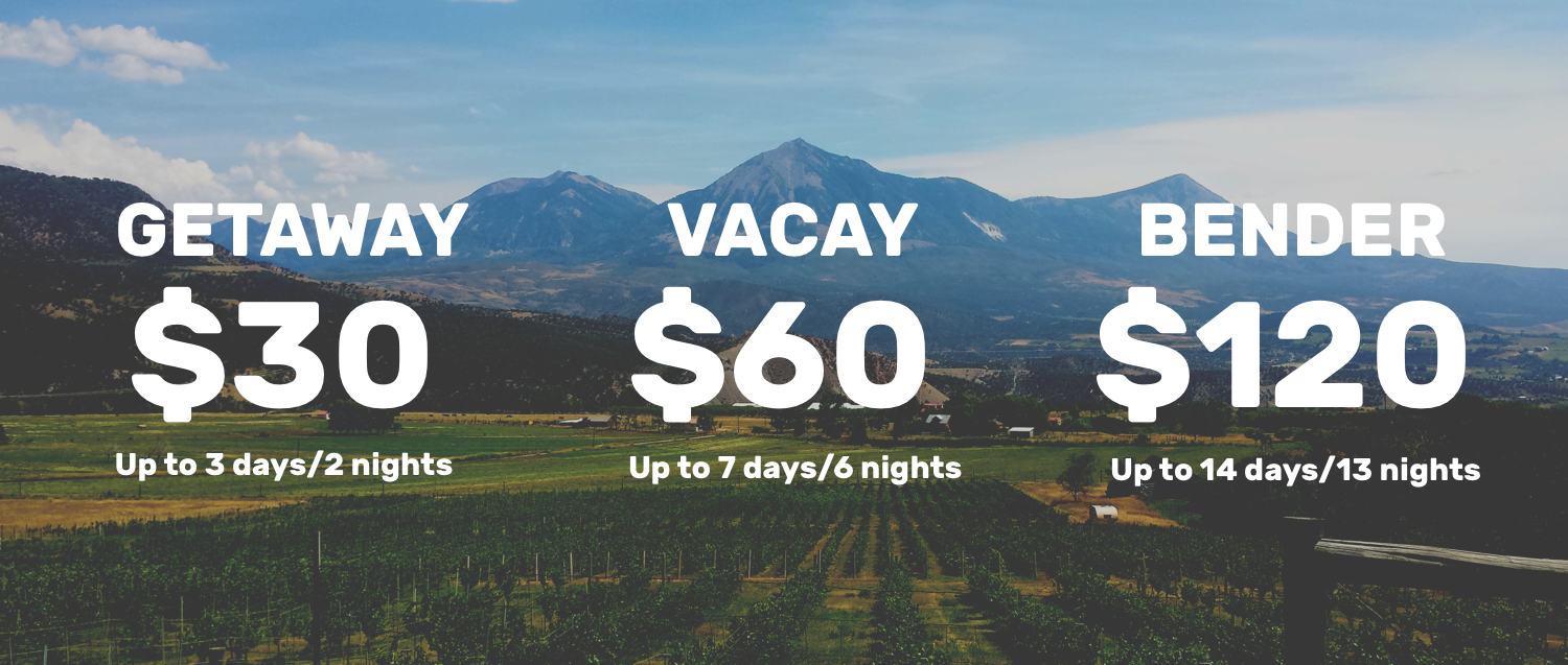 Vandervie Pricing for Colorado Travel Planning