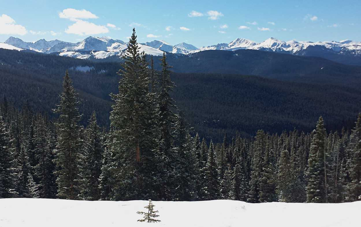 The view from Margy's Hut near Woody Creek, Colorado