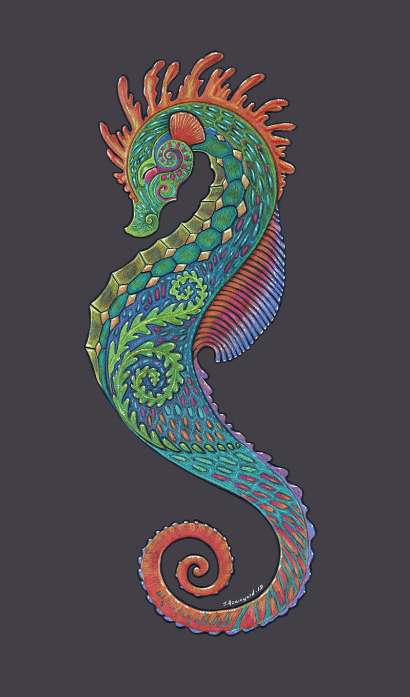 Seahorse Totem by Jennifer Hawkyard