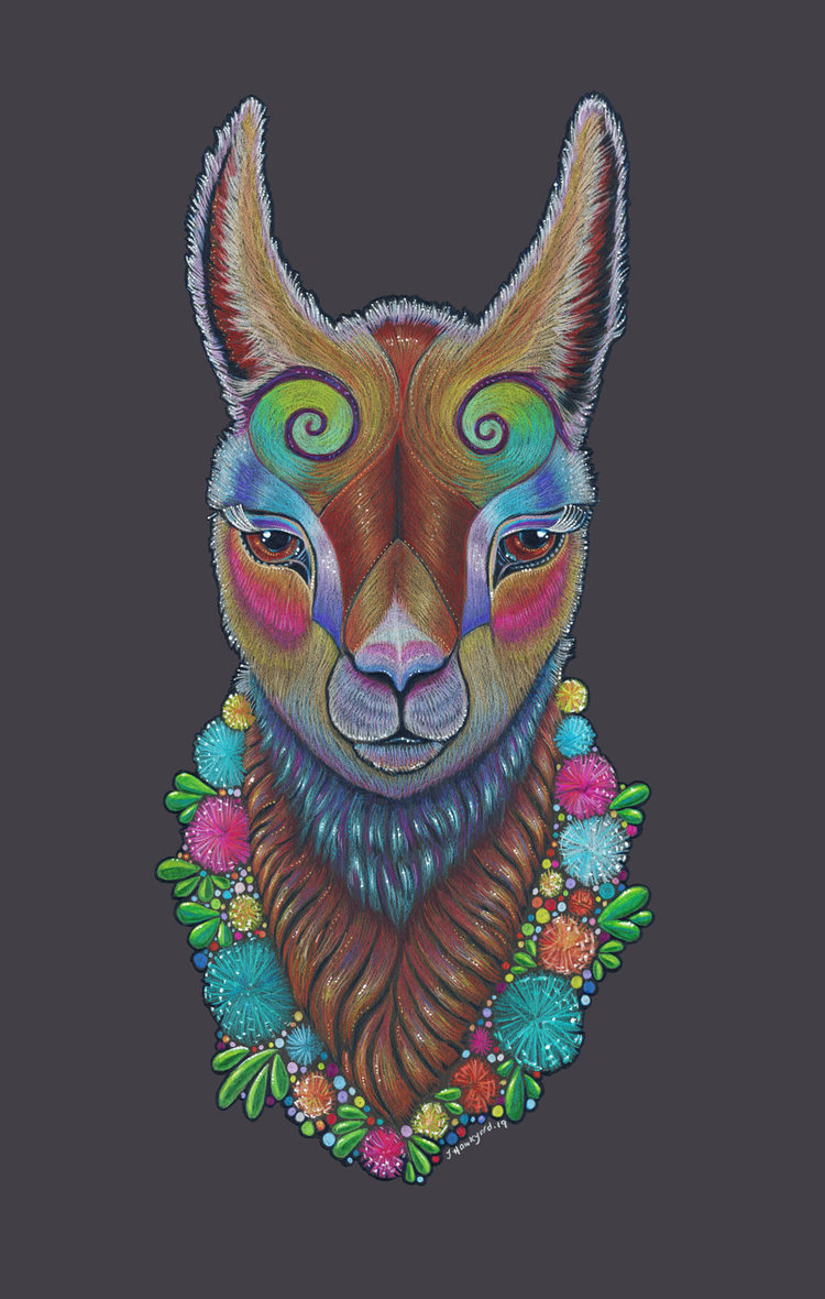 Llama Totem by Jennifer Hawkyard