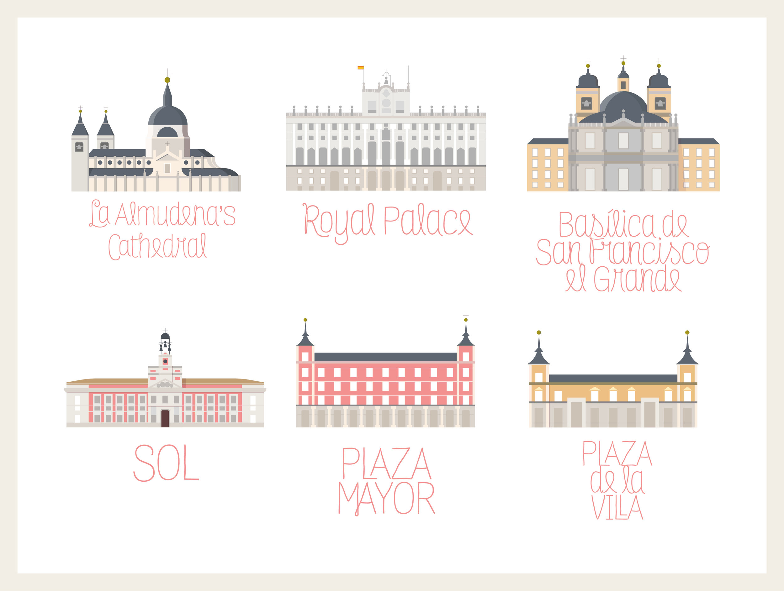 Madrid Illustrations / Personal Project