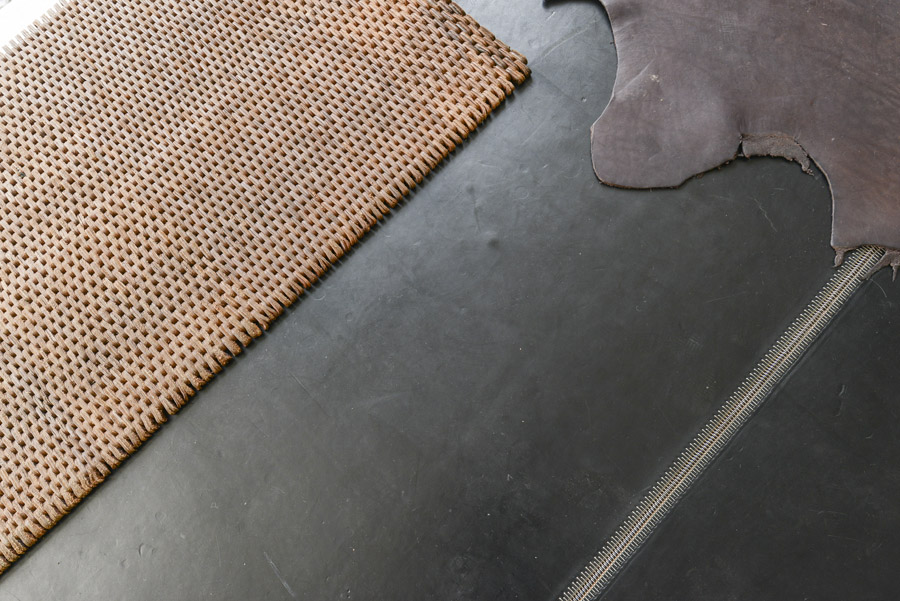 "Leather Link flooring in ""Dark Brown"""