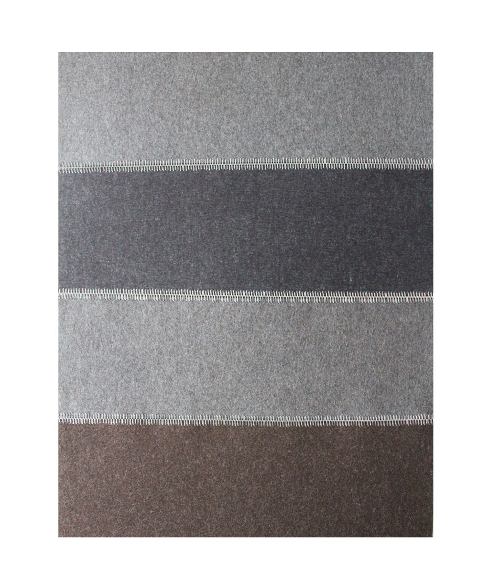 Wool Felt Runner - Saddlepad (Graphit, Asche & Trufflebraun) - Click to buy online