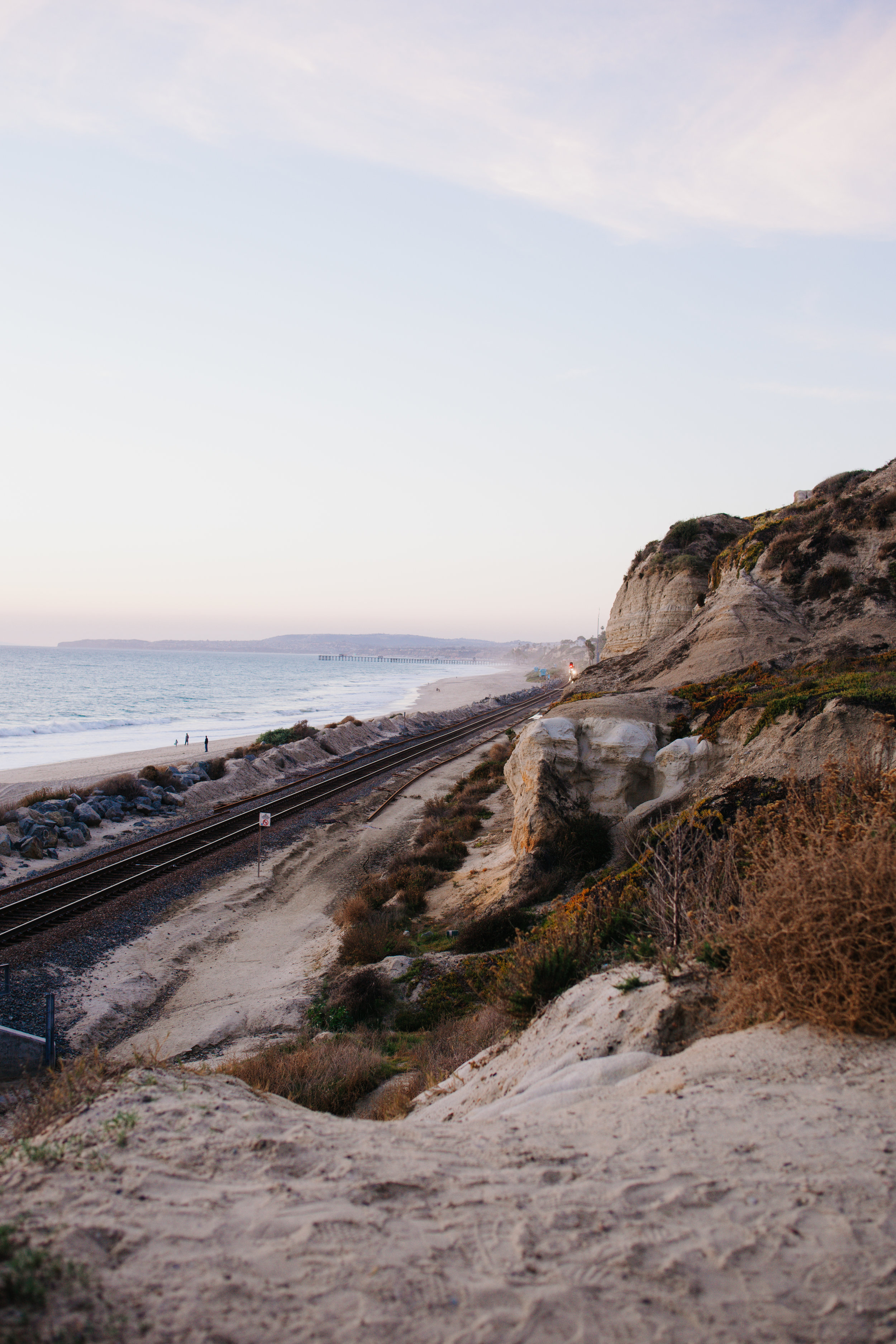 Cliffs and Railroad Tracks at San Clemente State Beach