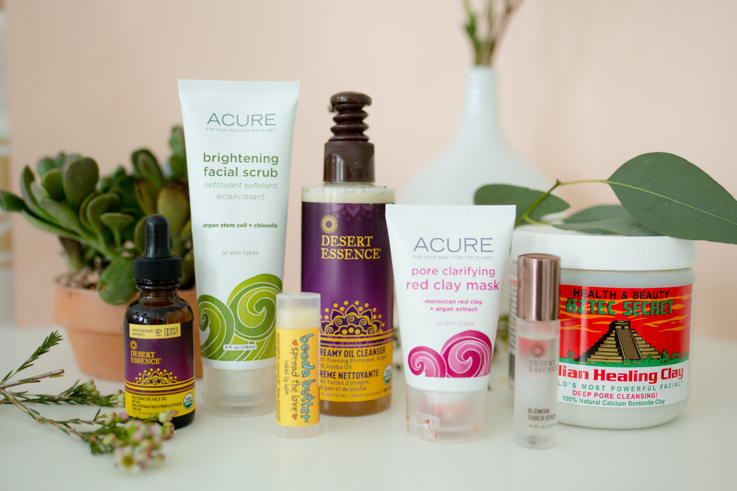 Green & Organic Beauty Products; Brands Desert Essence, and Acure