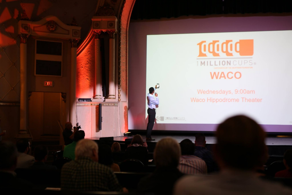 At the launch of 1 Million Cups Waco. Read on to see how Kevin's selfie turned out!