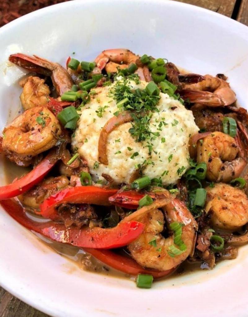 BBQ shrimp & grits from Blue Dog Cafe