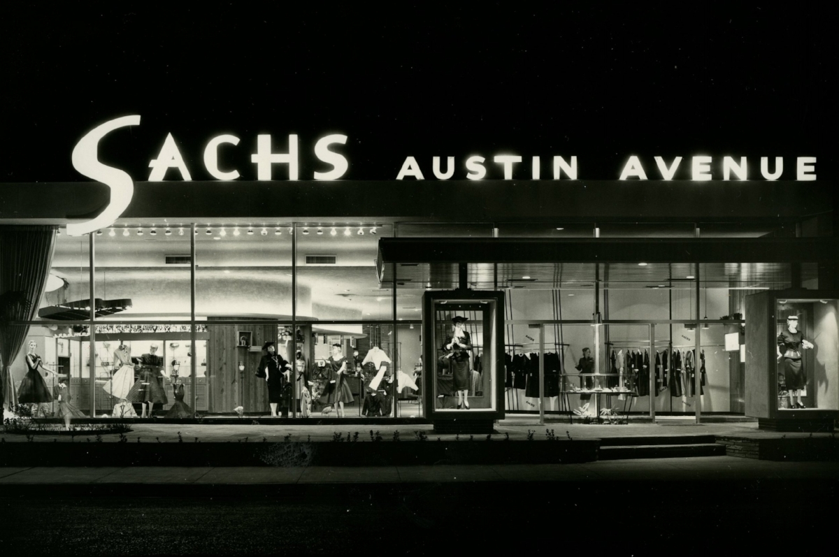 Sachs Austin Avenue at night