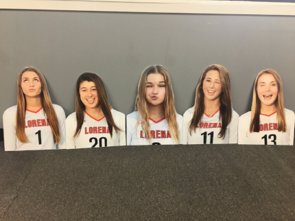 A Sign This original! Cut-outs of Lorena girls' athletics