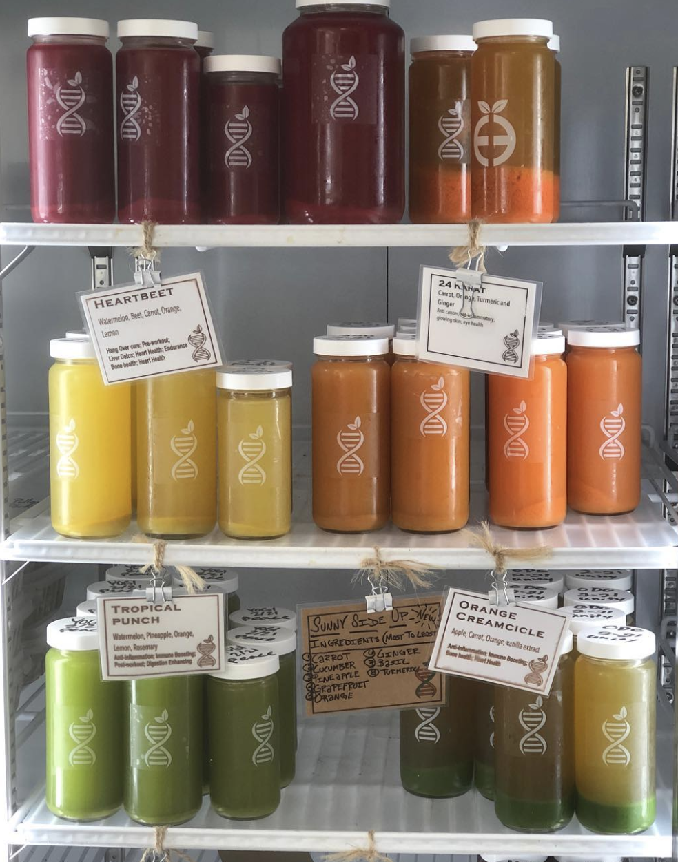 Cold-pressed juices from Tribe Collective
