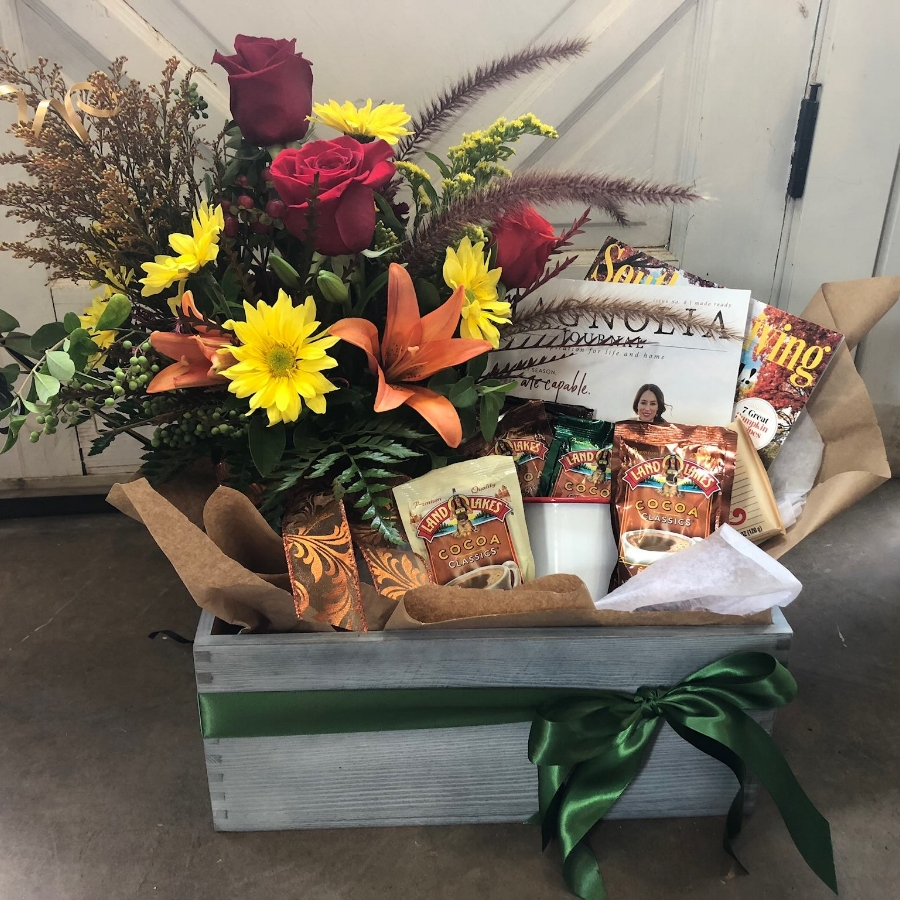 Fall gift basket from Garden Gate Flowers & Gifts