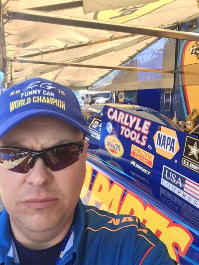 Napa asked Phillip to be a Ron Capps' honorary crew member