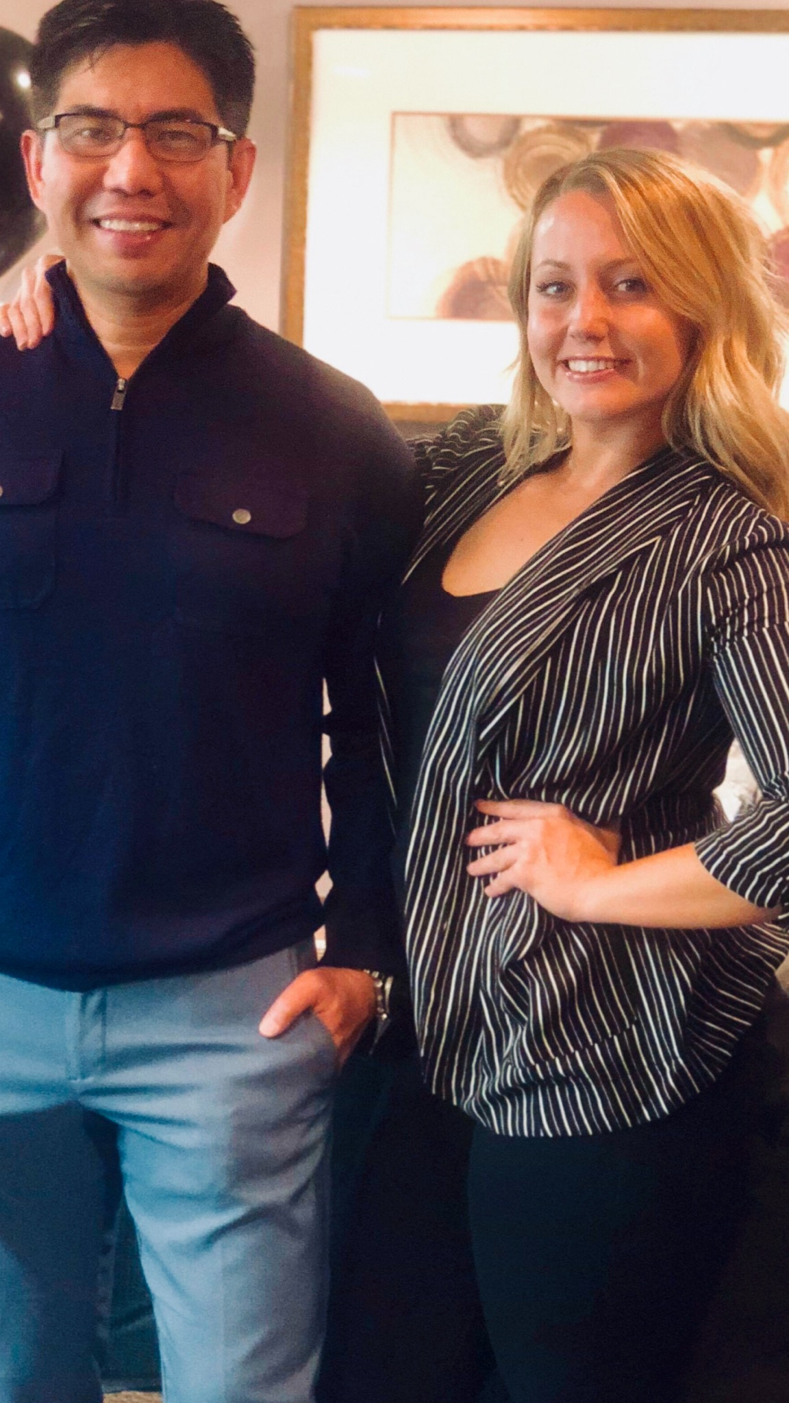 (Dr. Hubert Reyes and licensed esthetician Courtney Taylor)