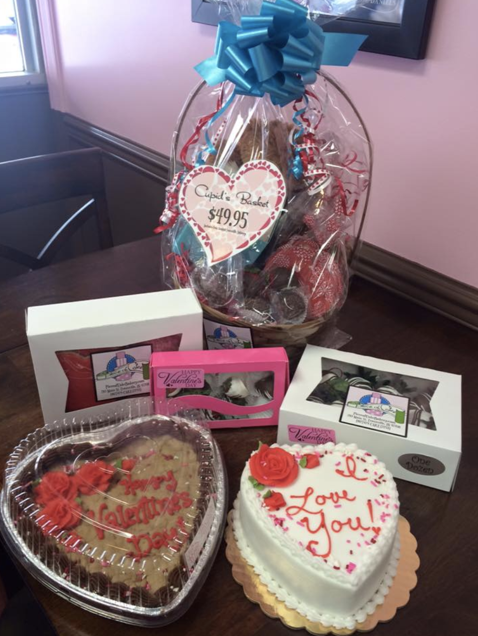Valentine's gift basket from Piece of Cake