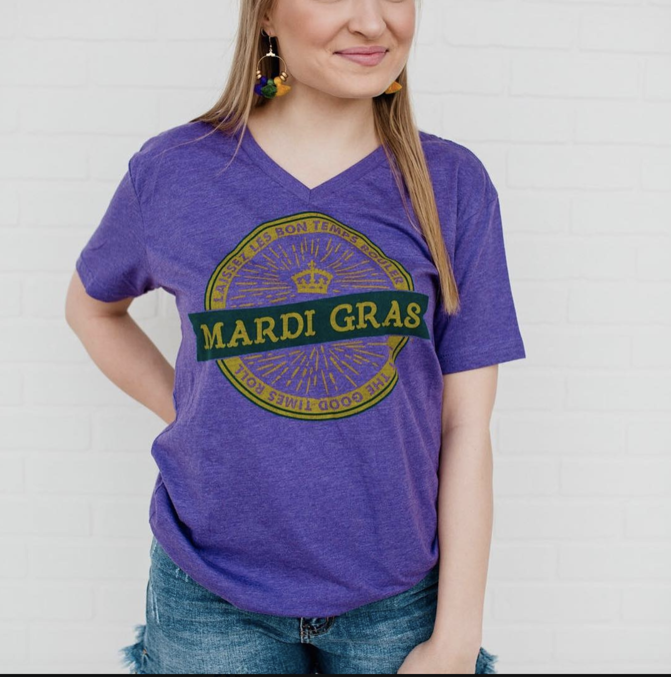 Mardi Gras tea from Evelyn Rose Boutique