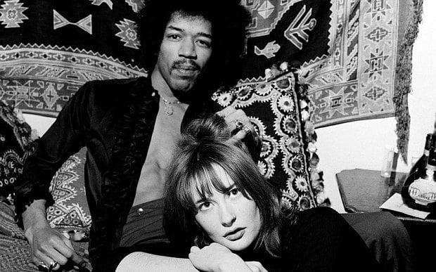 Jimi Hendrix and girlfriend, Kathy Etchingham