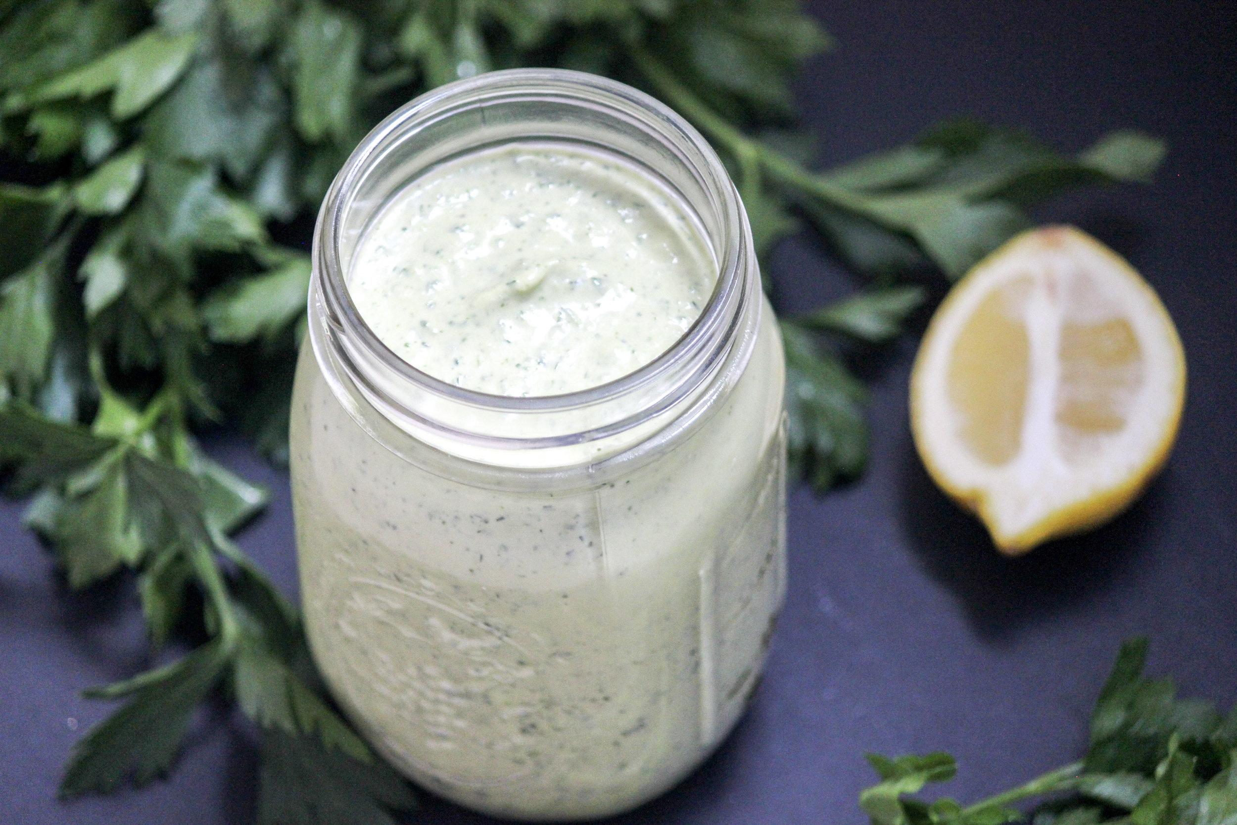 Lemon Herb Tahini Dressing