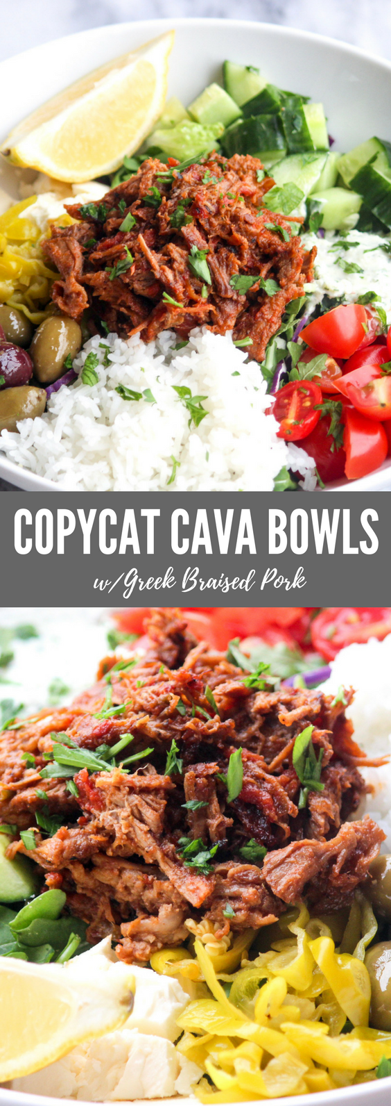 Copycat Cava Bowls with Braised Pork | All the Healthy Things