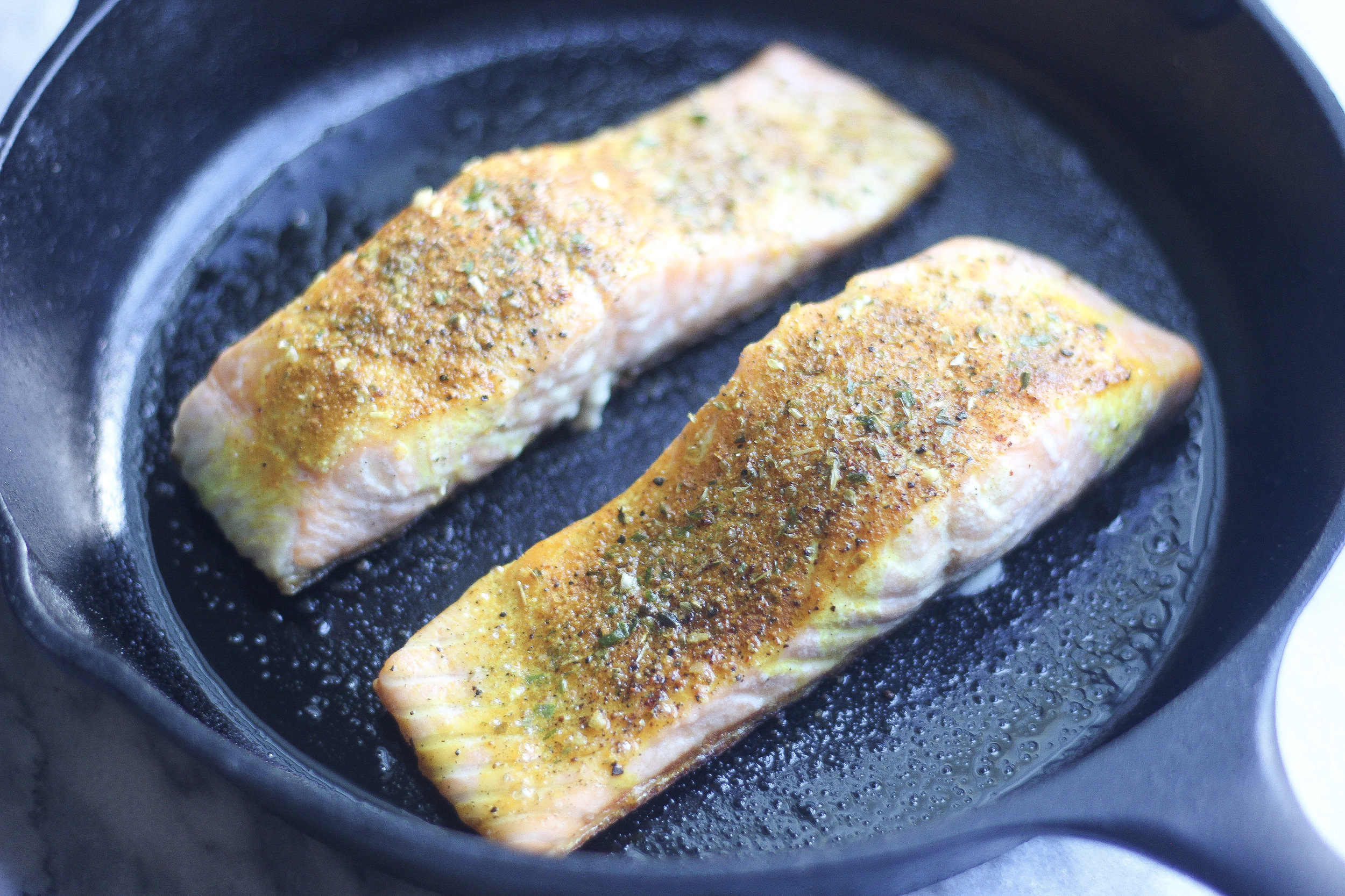 Salmon is a quick and easy protein for a fast weeknight meal.This easy method will give you perfectly flaky and delicious salmon every time!
