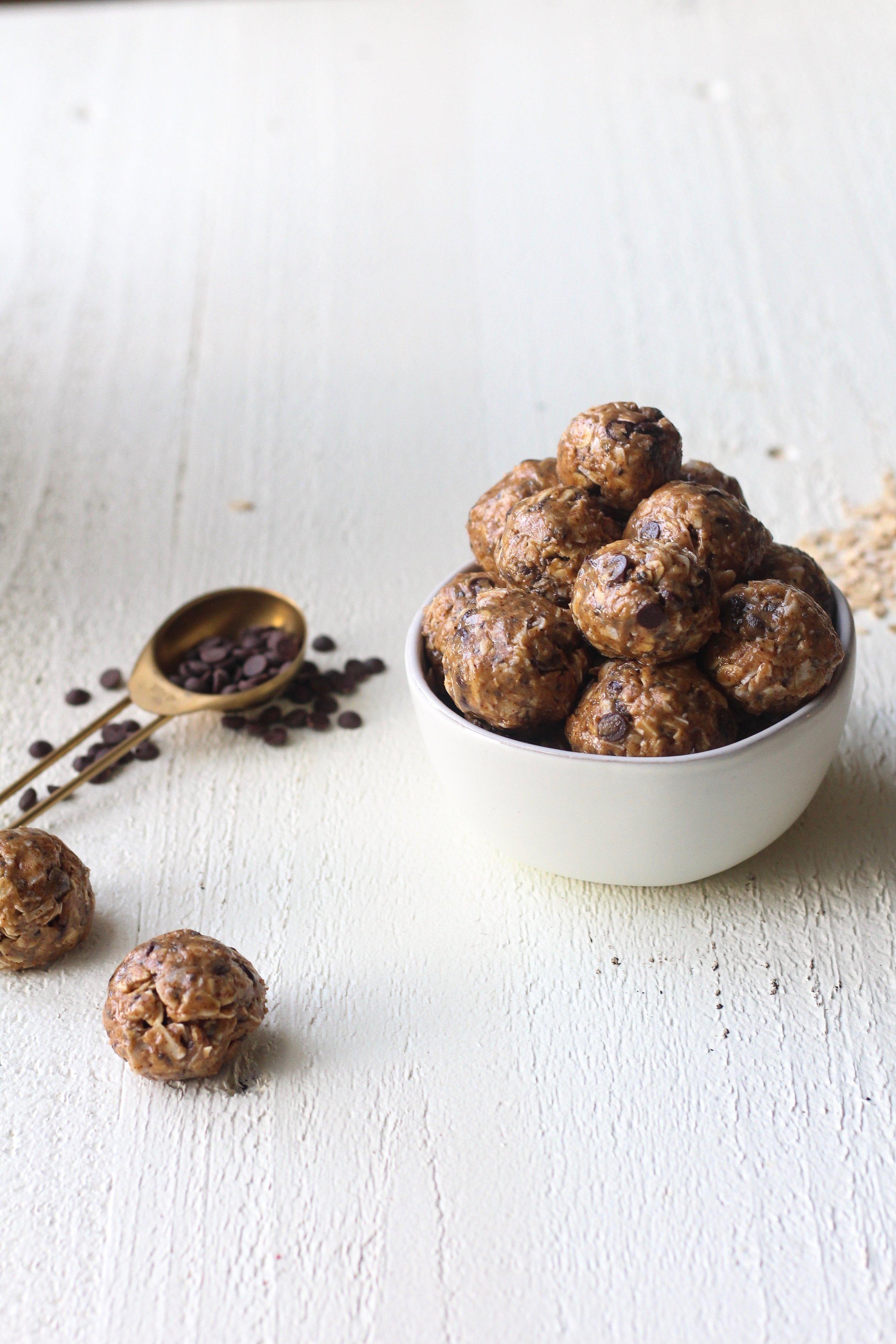 Coconut Chocolate Chip Cookie Dough Bites