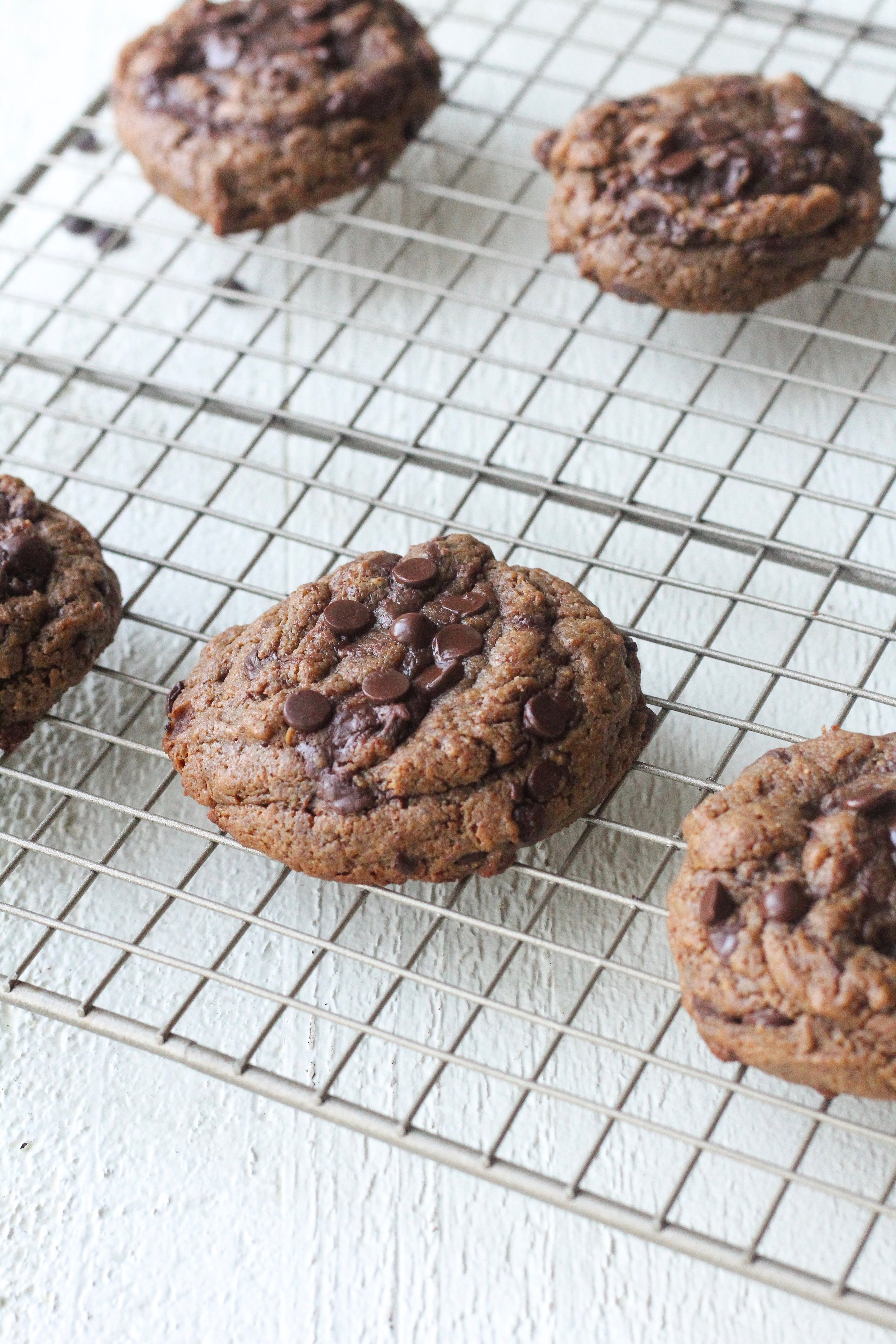 Fudgy Almond Butter Chocolate Chip Cookies