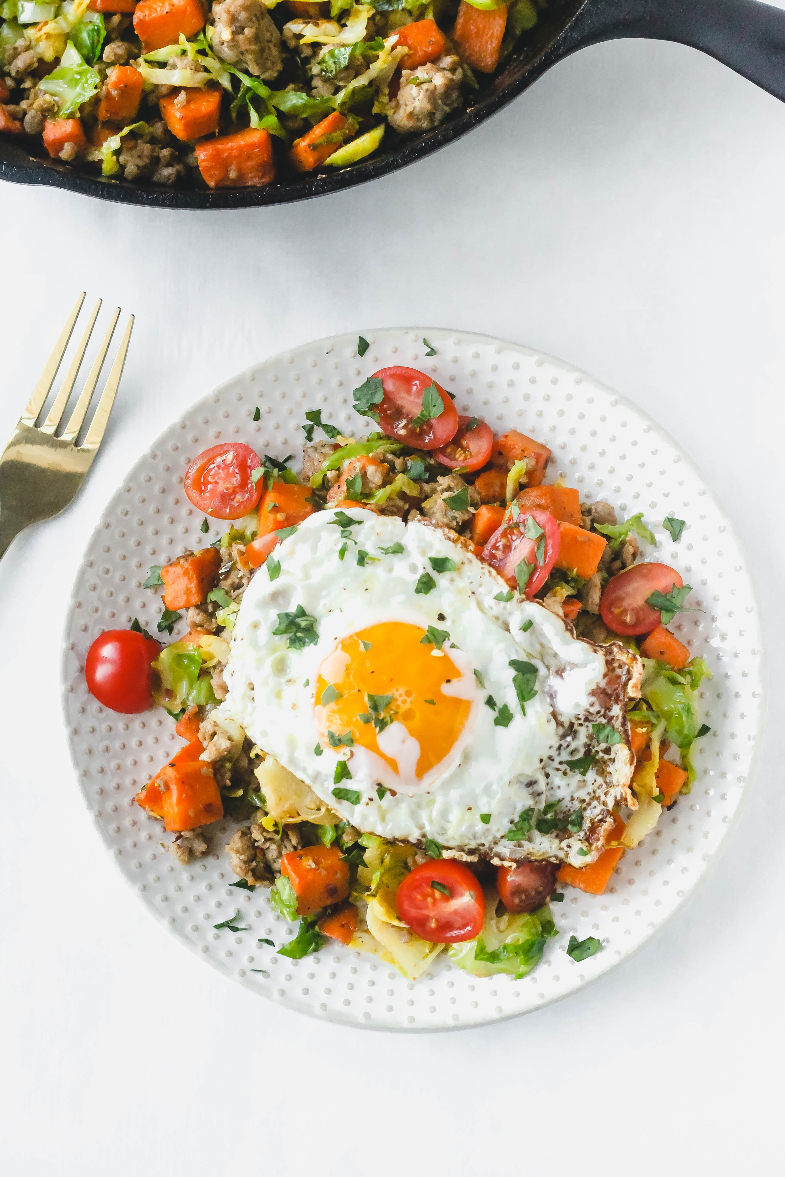 Sweet Potato and Brussel Sprouts Hash