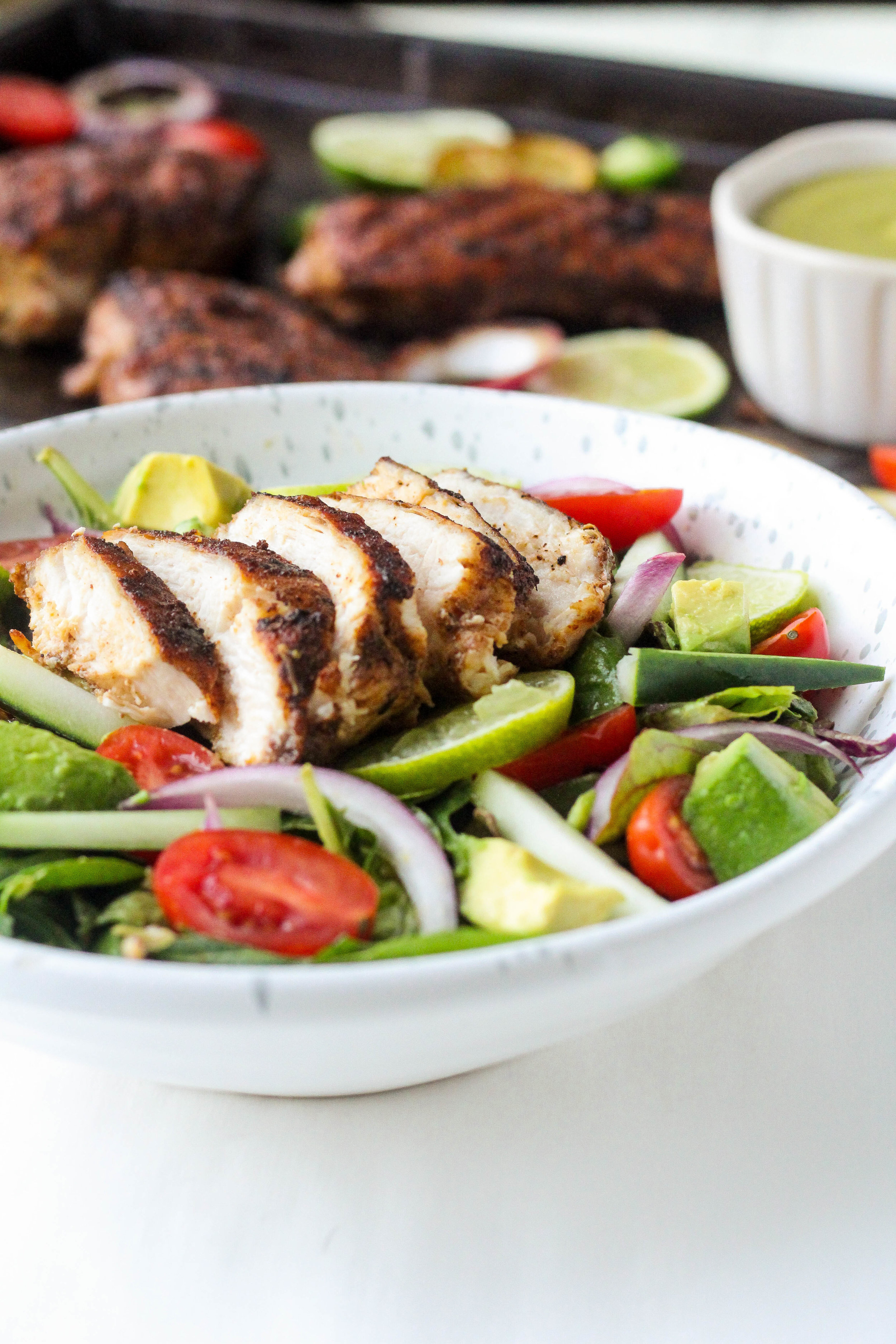 Chipotle Chicken Salad with Avocado Lime Dressing