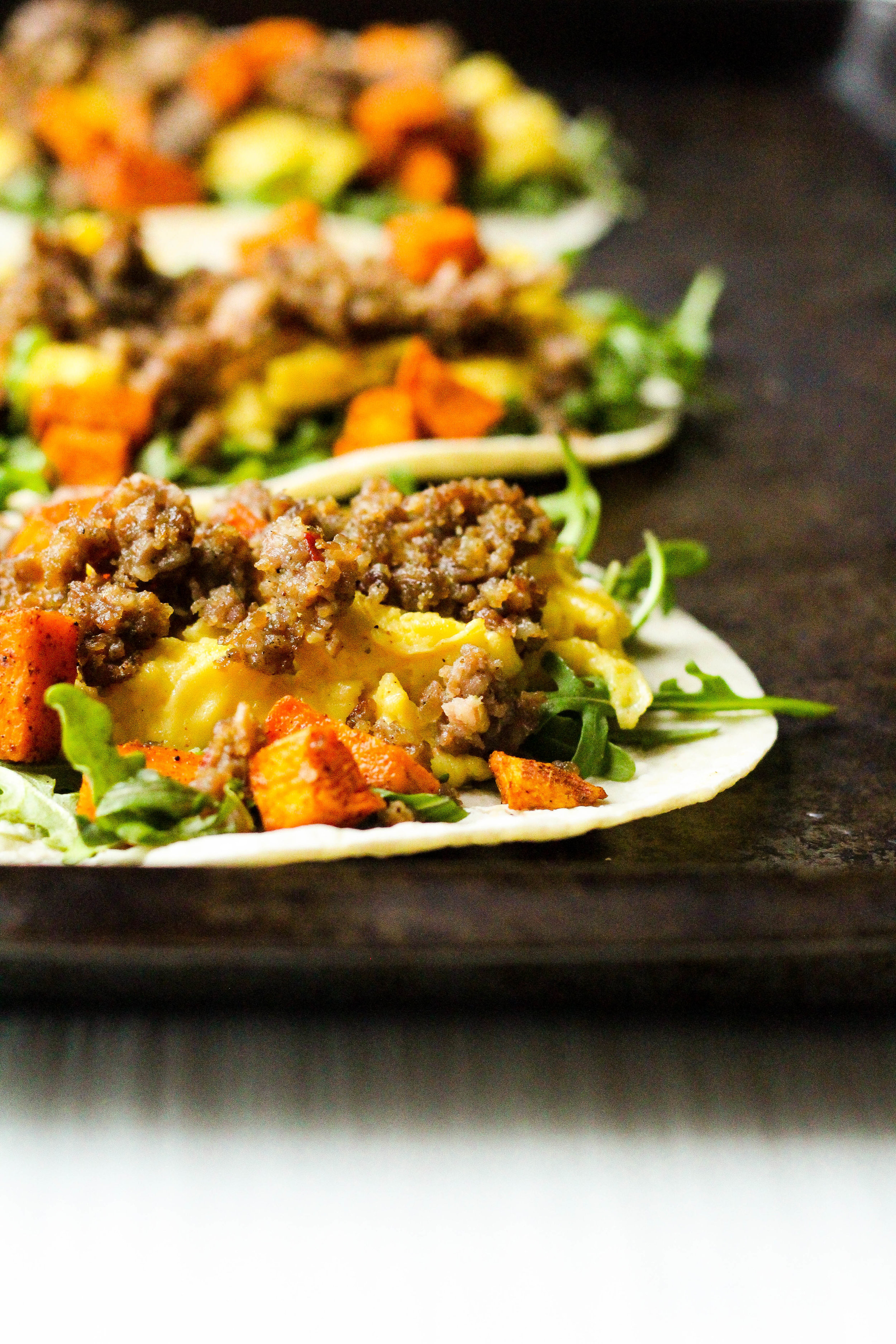 Sausage and Sweet Potato Breakfast Tacos