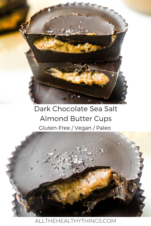 Salted Dark Chocolate Almond Butter Cups