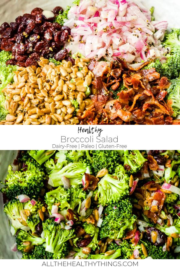 Healthy Broccoli Salad (Paleo, Dairy-Free, Gluten Free)