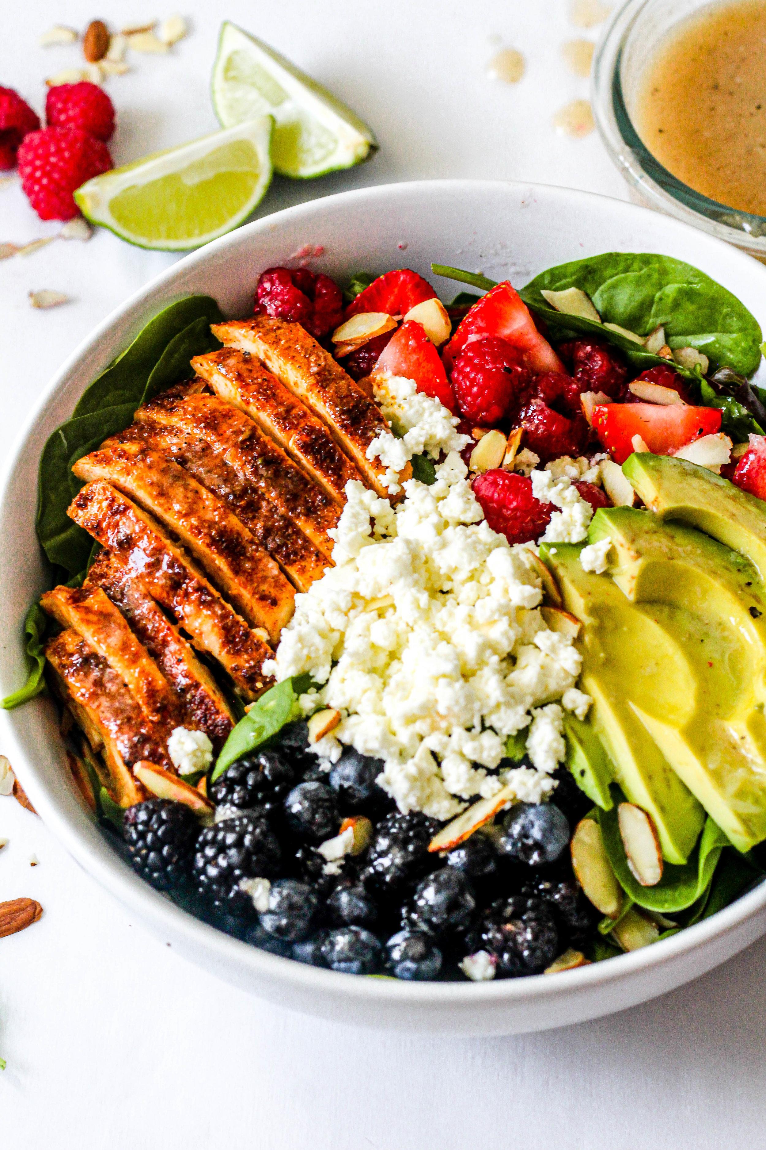 Berry Chicken Salad with Honey Lime Vinaigrette - blueberry side.jpg