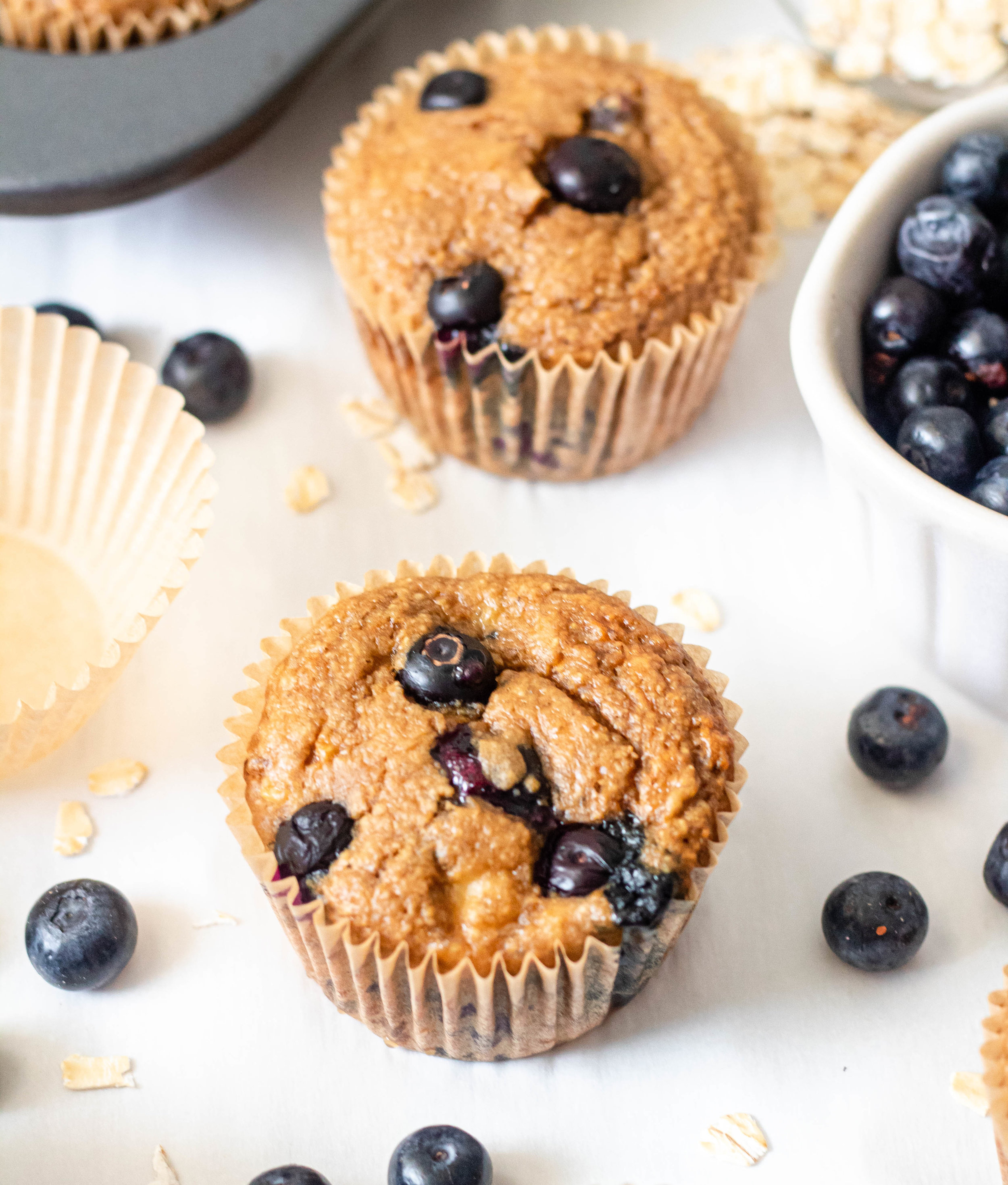 One Bowl Gluten Free Banana Blueberry Muffins.jpg