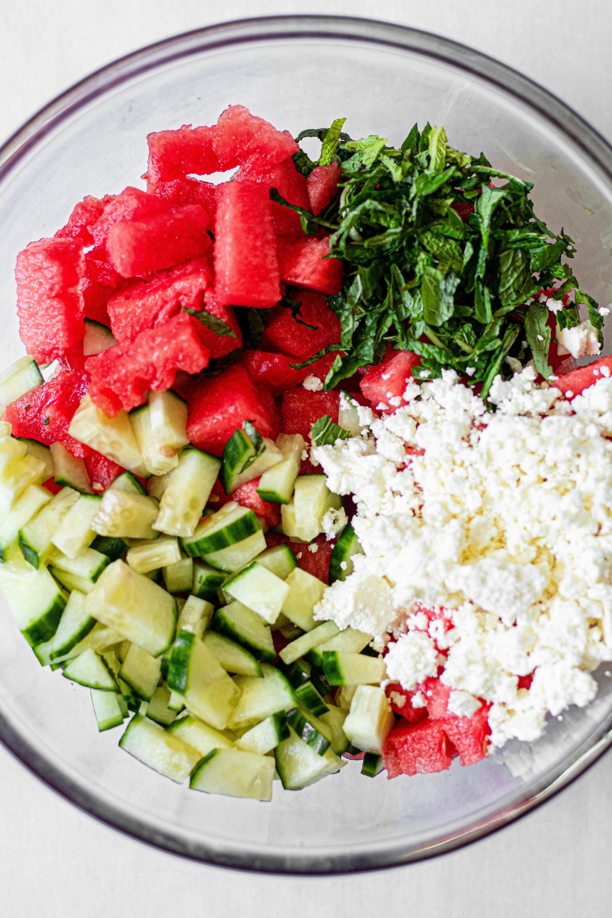 Watermelon, Feta, Cucumber, Mint Salad_process shot.jpg