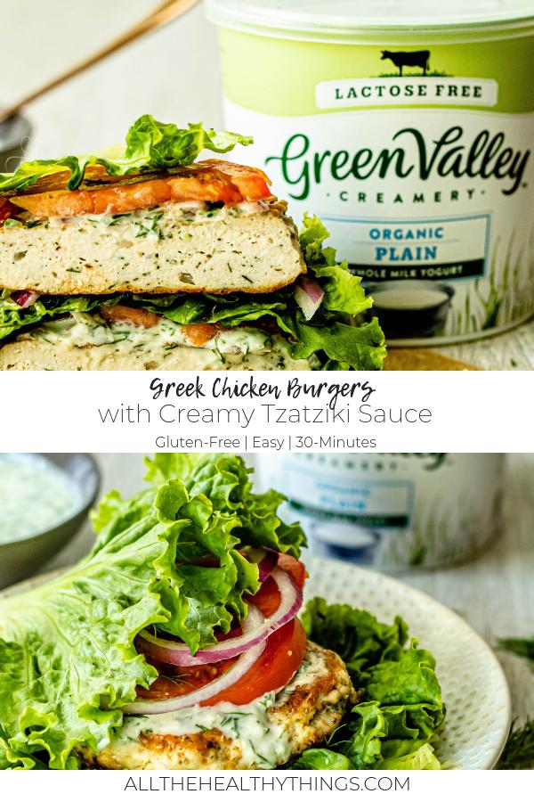 Greek Chicken Burgers with Creamy Tzatziki_Pinterest