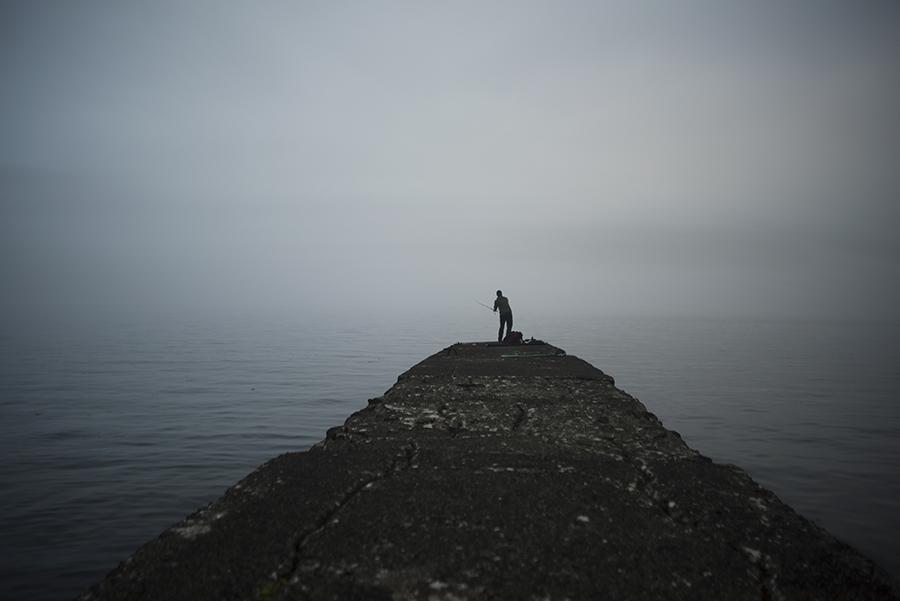 Fishing in fog