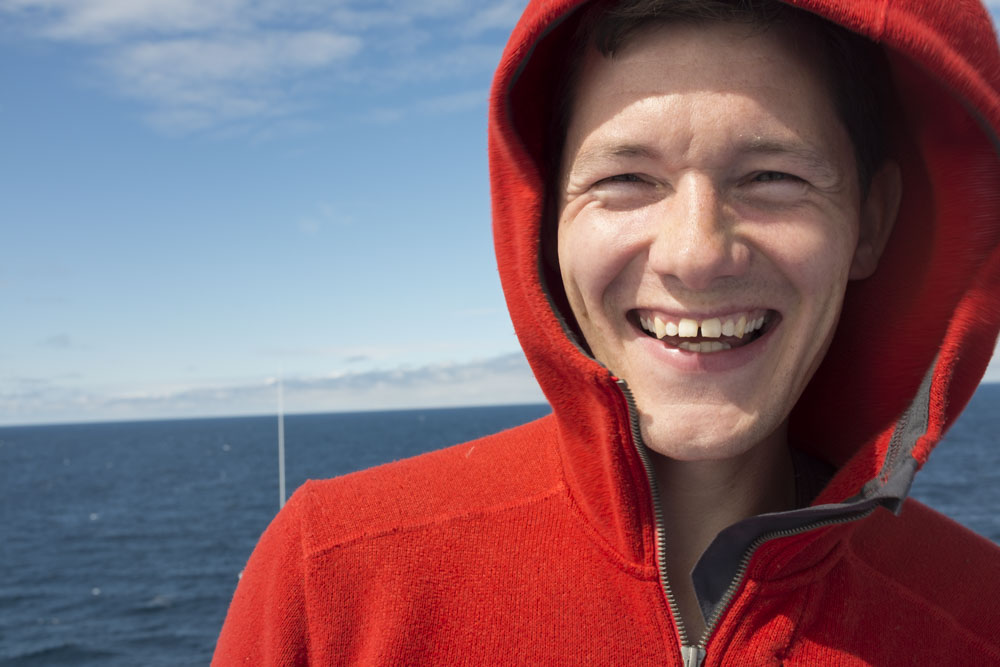 Mark on the boat ( Smyril ) to the Faroe Islands