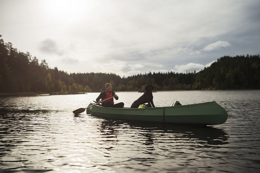 Canoeing with Bjørn and Ludo