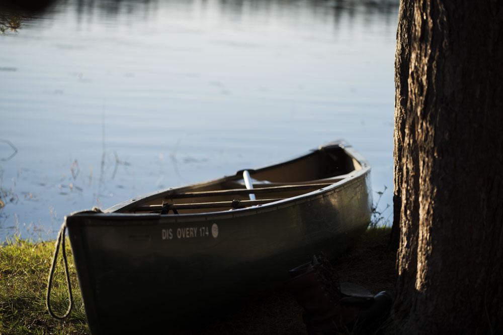 Rented canoe