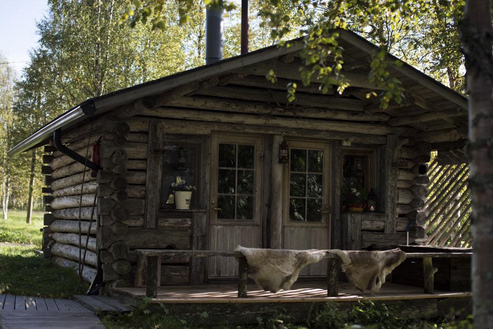 Lake side sauna