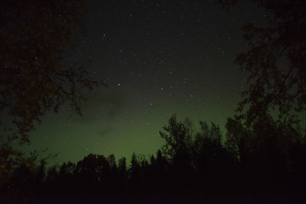 We were treated to a faint Aurora as the evening darkened, a reminder of the approaching Northern Light season, and how far North we were