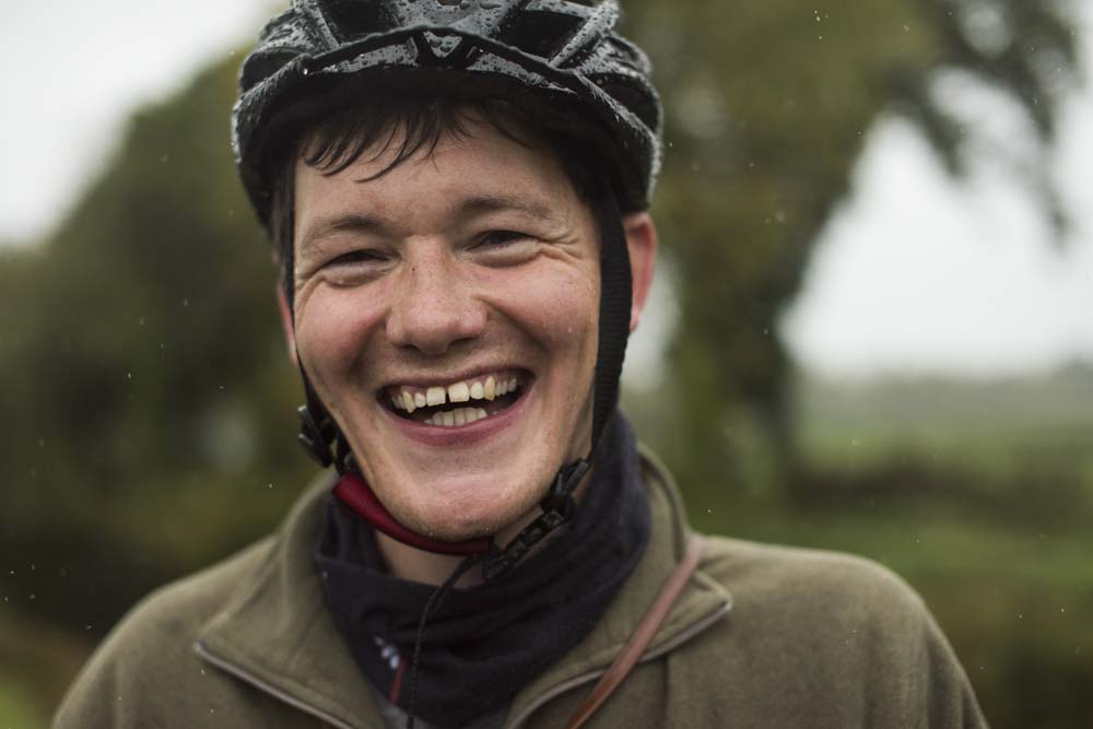 There is no such thing as bad weather!! Mark on a Leitrim cycle tour along the Shannon blueway