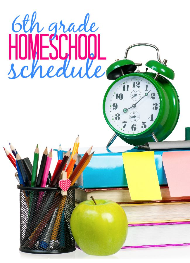Take a look at the schedule for a 6th grade homeschooler. It's all about learning independence!
