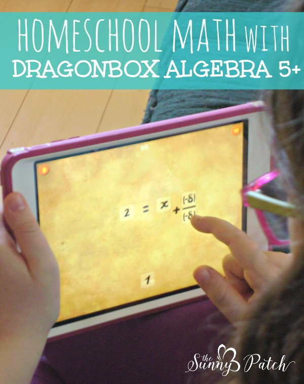 We love using DragonBox Algebra 5+ for homeschool math fun. Teaching basic algebra is easy with this app!