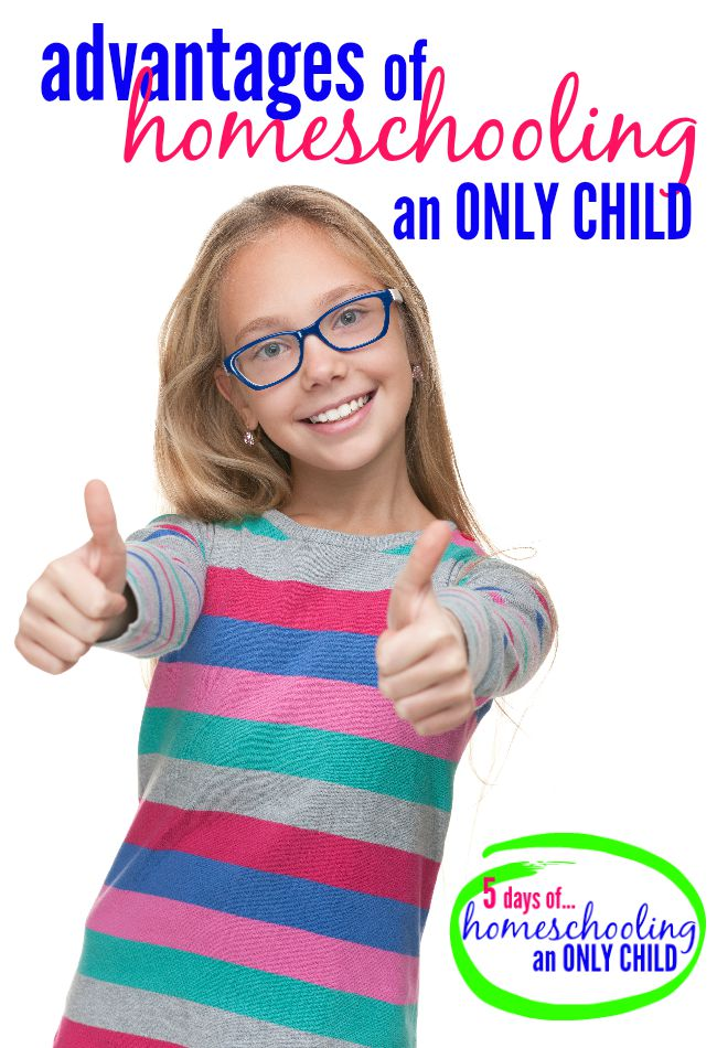 If you've though about homeschooling your only child let me tell you about the advantages of homeschooling an only child.